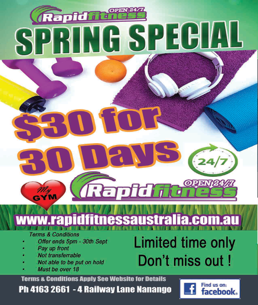 Spring Special - 30 days for $30. Conditions Apply
